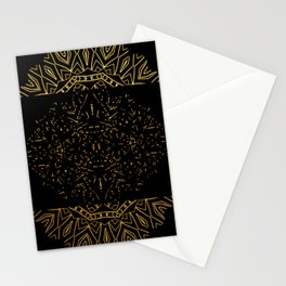 256 15 Tribal Gold on Black Stationery Cards