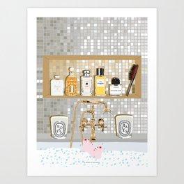 My Dream Bathtub Shelf Art Print