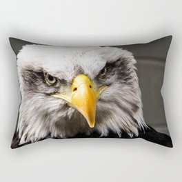 Mean Bald Eagle Rectangular Pillow