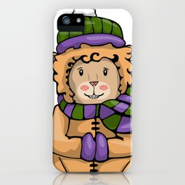 A Lion in Winter iPhone Case