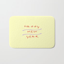 happy new year 2 Bath Mat