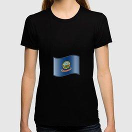 Waving Flag of Idaho  T-shirt