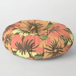 Epic Hibiscus Hawaiian Floral Aloha Shirt Print Floor Pillow