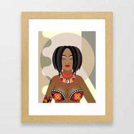 Nubian Queen Framed Art Print