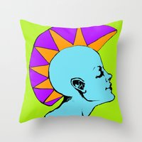 goddess Throw Pillows featuring Goddess by Helena Bowie Banshees