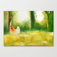 farm Canvas Prints featuring Farm by Susana Zarate
