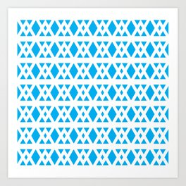 Triangles Pattern (Blue) Art Print