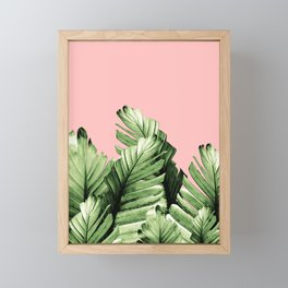 Blush Banana Leaves Dream #10 #tropical #decor #art #society6 Framed Mini Art Print
