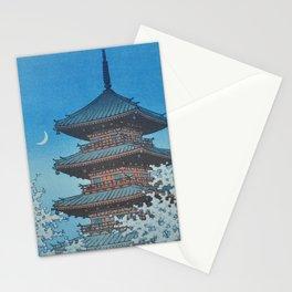 1953 Kawase Hasui Japanese Woodblock Print Ueno Park Tokyo Stationery Cards