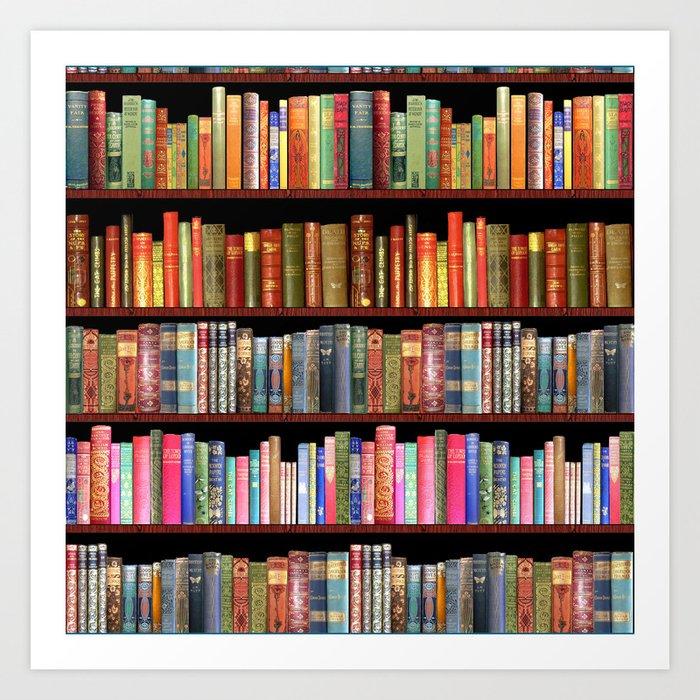 Vintage books ft Jane Austen & more Kunstdrucke