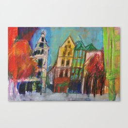 Cologne Old Market Canvas Print