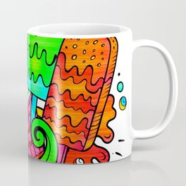 Ice Cream Sweets in Rainbow Neon Coffee Mug