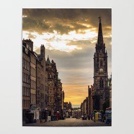 Royal Mile Sunrise in Edinburgh, Scotland Poster