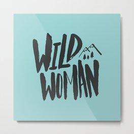 Wild Woman x Blue Metal Print