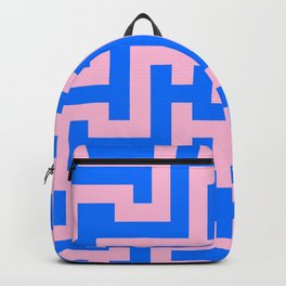 Cotton Candy Pink and Brandeis Blue Labyrinth Backpack
