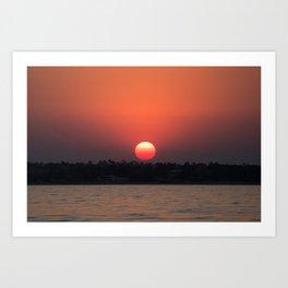 Really red sun Art Print
