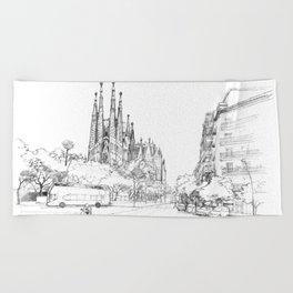Bcn 5 Beach Towel
