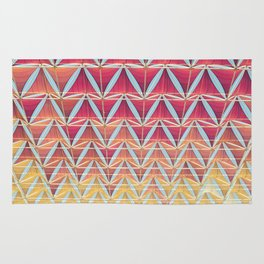 From pink to yellow pattern Rug