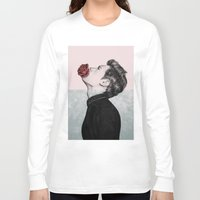 mouth Long Sleeve T-shirts featuring Mouth Flower by Sofia Azevedo