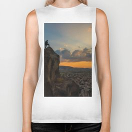 Amazing hike (sunset) Biker Tank