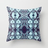 sister Throw Pillows featuring sister, sister by Prints & Needles