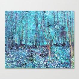 Van Gogh Trees & Underwood Turquoise & Amethyst Canvas Print