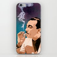django iPhone & iPod Skins featuring Django Reinhardt by Kim Hoffnagle