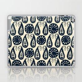 paisley block indigo ivory Laptop & iPad Skin
