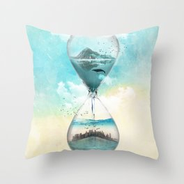 11th Hour Glass Throw Pillow
