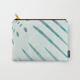 dots and stripes dark cyan and lightblue II Carry-All Pouch