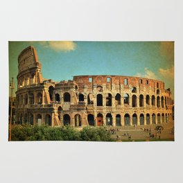 Colosseum in Rome Italy Rug