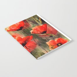 Real Red Poppies Notebook