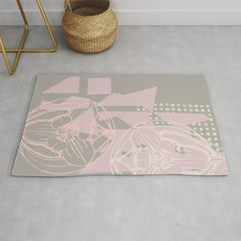 Abstract Flower Geometry Rug