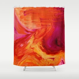 Abstract Hurricane II by Robert S. Lee Shower Curtain