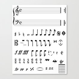 Musical Notation Canvas Print