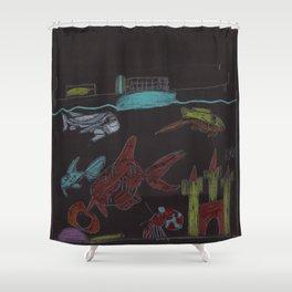 NightTime Aquarium Shower Curtain
