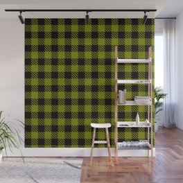 Olive Drab  Bison Plaid Wall Mural