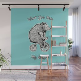 wont you ride my bicycle Wall Mural
