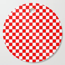 Jumbo Australian Racing Flag Red and White Checked Checkerboard Pattern Cutting Board