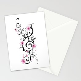 Treble Clef blossom Stationery Cards