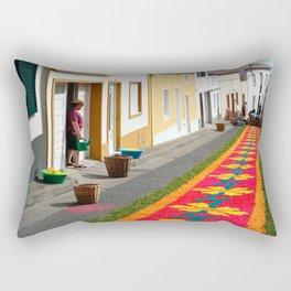 Making flower carpets Rectangular Pillow