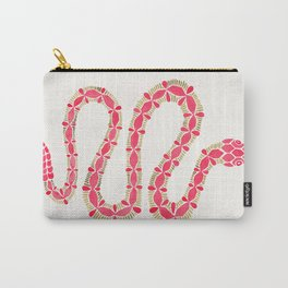 Pink & Gold Serpent Carry-All Pouch