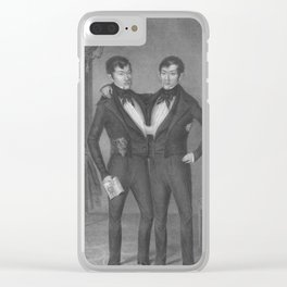 Chang and Eng Bunker - Siamese Twins Portrait Clear iPhone Case