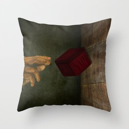 The Hand of the Pandora Series By Samantha Glover Throw Pillow