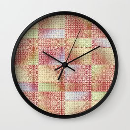 Faux Patchwork Quilting Wall Clock