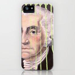 Green Drip George Washington iPhone Case