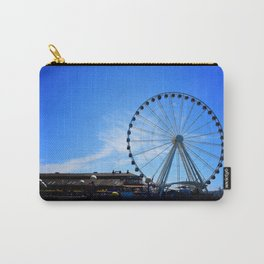 The Great Wheel in Seattle on a Blue Sky Day Carry-All Pouch