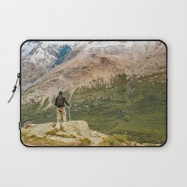 Man at Top of Andes Mountains, Patagonia - Argentina Laptop Sleeve