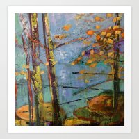 Purple Forest Art Print