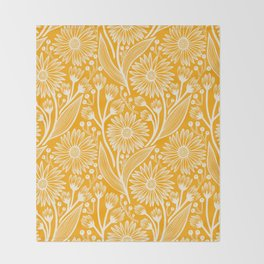 Saffron Coneflowers Throw Blanket